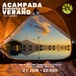 Cine al aire libre y acampada Tagoro