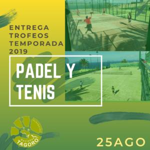 Entrega trofeos Padel y Tenis