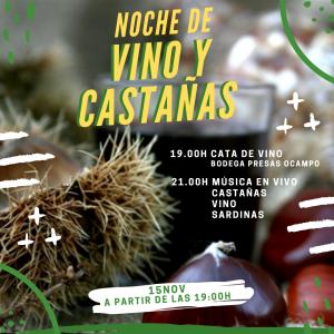 Noche de vinos y castañas